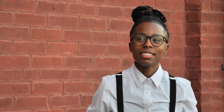 Meet Belinda Drake for IN State Rep. District 89 | Belinda in front of brick wall